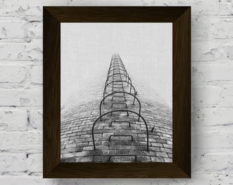 urban print, industrial wall art, black and white tower photography, wall art prints, poster printable artwork, instant digital download