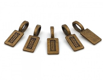20 bails to stick 21mm bronze rectangles