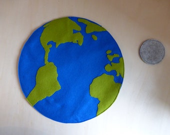 Earth and moon playscape playmat (earth day, modern waldorf, space theme)