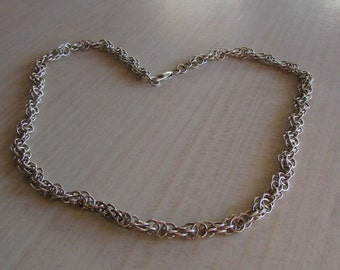 """Handcrafted Sterling Silver Chain. 18 3/4"""""""