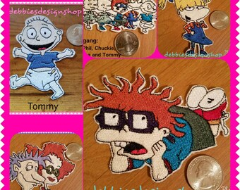 Rugrats Iron on Patches #1 - Choose Chuckie, Angelica, Stu/Didi, The Gang or Tommy