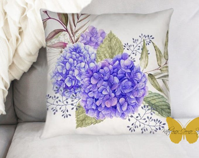 Purple Hydrangea Pillow Exclusive Design