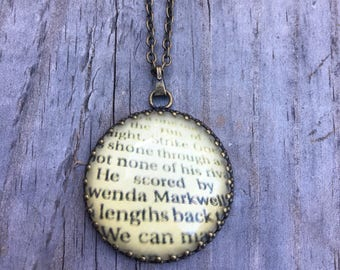 Wordy Pendant Necklace