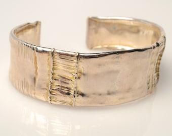 John Sacha Narrow Sterling Cuff Bracelet (SACH 074)