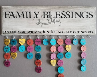 """Rustic White """"Family Blessings"""" board"""