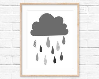 Rain Cloud wall decor