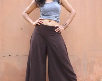 Wide Leg Pants / Bell Bottom Pants / Flared Pants / Casual Pants /  Wide Legged Pants / Formal Pants / Dress Pants /Color Brown