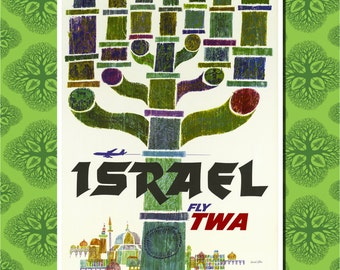 Israel Travel Poster Wall Decor (7 print sizes available)