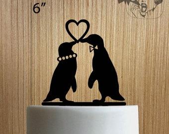 Penguins In Love Wedding 225-208 Cake Topper