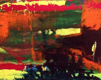 And the Darkness Has Not Overcome It ORIGINAL canvas PAINTING
