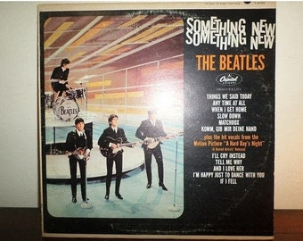 Vintage 1964 LP Record The Beatles Something New Capitol Records T-2108 Mono Very Good Condition 11924