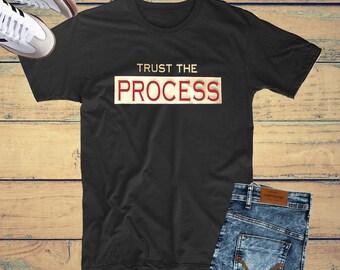Trust The Process Tee | Motivation Tee | Flock Suede