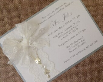 12x First Holy Communion Invitations