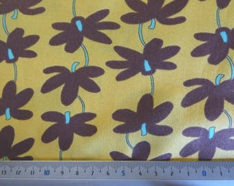 mustard Calipso Vine Stripe TD 46 patchwork fabric