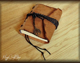 Mini Diary - Handmade Book of Shadows LEGENDARY SERIES - portable 8,3x11,3 cm - customizable paper