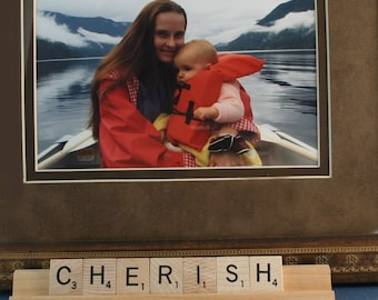 CHERISH Scrabble Letters Sign RECYCLED
