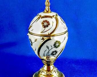 Franklin Mint House of Faberge Musical Egg -  Cornflower