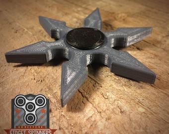 EDC Spinner 6 Point Shuriken Fidget Toy with Caps