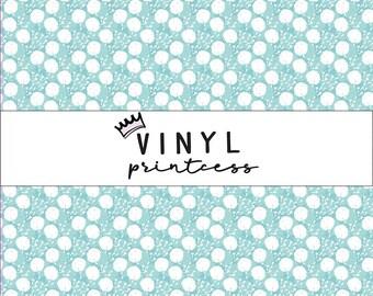 Dandelion Printed Vinyl - Smaller Scale - Choose From Adhesive Vinyl, Laminated or Heat Transfer Vinyl HTV - Blue Dandelions