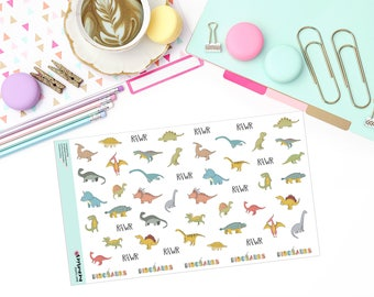 DOODLE DINOS Paper Planner Stickers!