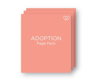 Adoption Page | Additional Baby Book Page Pack