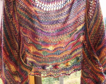 Crayola Rainbow Lace Shawl