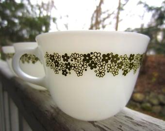 Vintage Pyrex Spring Blossom Cups