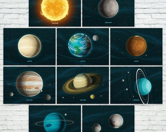 """Our Solar System Prints - Set of 10 (5""""x7"""")"""