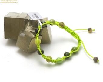 """Stone natural """"shamballa"""" bracelet, chrysoprase"""