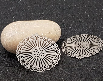 10 prints Fleuries rays 37x35mm platinum silver