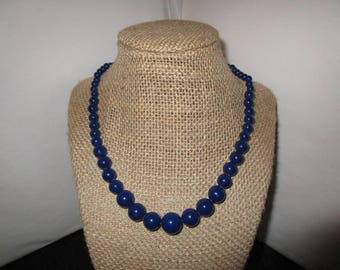 Blue Beaded Necklace