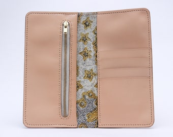 Phone Long Wallet  //  Phone Wallet Card Holder // Leather Iphone Case // Phone Wallet // Natural