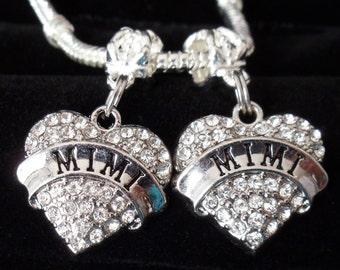 MIMI charms One mimi charm Grandmother jewelry Grandmother charm