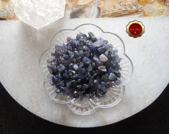 4 oz Iolite Mini Chips, Tumbled Iolite Chips, Undrilled Chips, Tumbled Stones for Grids, Shaman Stone, Astral Travel, Clear Psychic Visions