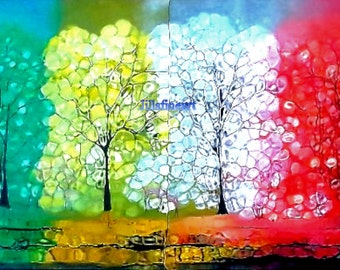 Neon Trees | 100% Archival Paper Art Prints | Modern Abstract  Print | Original photo print | four 16x20 Photo Print | byjillsfineart