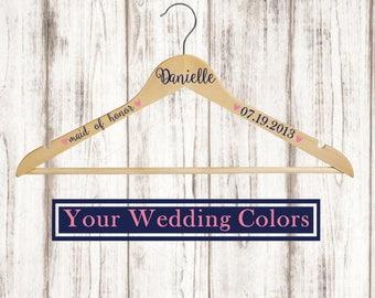 Wedding Hanger / Bridesmaid Gift / Wedding Dress Hanger / Bride Hanger / Wedding Photography Prop / Custom Hanger / Bridesmaid Hanger