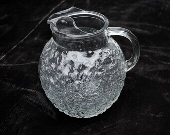 Fat Round Lido Milano Anchor Hocking Glass Pitcher