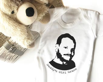 Dads First Christmas Gift   Gift for Dad from Baby   Personalised Photo Bodysuit   Gift from Daughter   Gift from Son   Christmas Gift