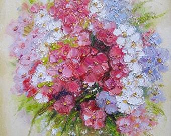 Floral painting, Giclee wall art print, Pink flowers bouquet, Oil painting print, Modern artwork, Wall decor print, 8 x 10 print Still life