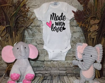 Made with Love Baby Bodysuit| Onsie| Romper