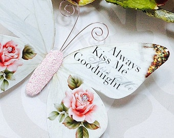 Butterfly Embellishments Kiss Me