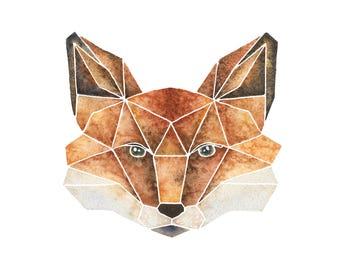 Fox Art Print | Watercolour