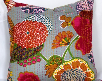 Indian decorative christmas pillows kantha pillow cover 26X26 pillow cover 16x16 ethnic pillowcase 20x20 pillow cover 24x24 cushions cover
