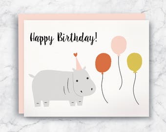 Hippo birthday card hippo pun card clever card funny hippo birthday card happy birthday hippo birthday card hippo card cute birthday bookmarktalkfo Image collections