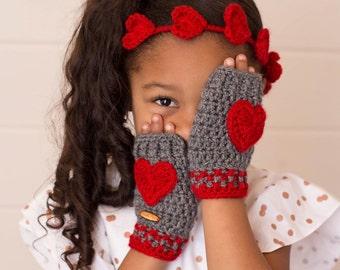 Valentine Mittens, Red Hearts Mittens