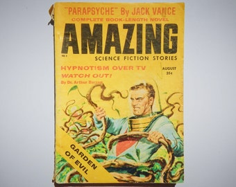Amazing Science Fiction Stories Vintage August 1958 Volume 32 No. 8 Sci Fi Book