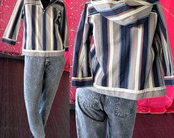Hooded Denim Jacket Vintage 80s Mac & Jac Jean Surfer Jacket