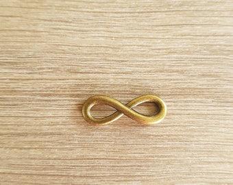 Connector link colori bronze infinity symbol