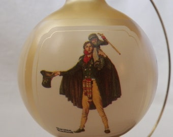 Vintage 1984 Hallmark Norman Rockwell Glass Ball ornament - QX2511