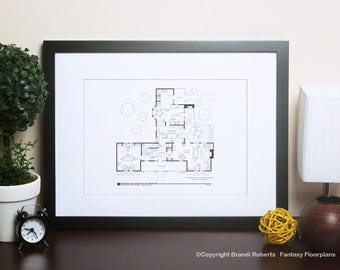 Father Knows Best | Fictional Floor Plan for Jim & Margaret Anderson's Home | NBC Today Show featured artist